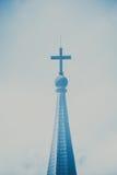 Symbole d'une croix d'église Symbole de religion de christianisme Photographie stock libre de droits