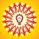Symbole d'unité avec le concept d'idée Photo libre de droits
