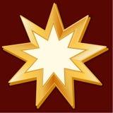 Symbole de Baha'i (JPG +EPS) Image libre de droits