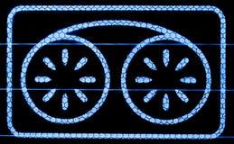 Symbole de bande d'affichage visuel Images libres de droits