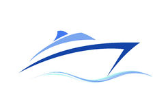 Symbole de bateau stylisé Photographie stock libre de droits