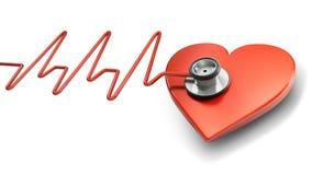 Symbole de battement de coeur Image stock