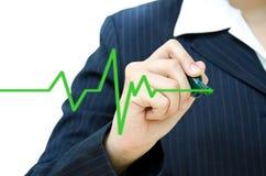 Symbole de battement de coeur de retrait de main. photos libres de droits