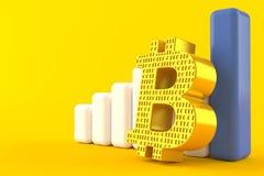 Symbole de Bitcoin avec le diagramme Illustration Stock