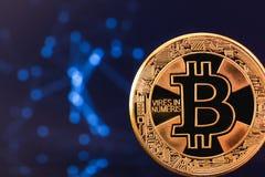 Symbole de Bitcoin, cryptographie photographie stock