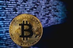 Symbole de Bitcoin de cryptographie photographie stock libre de droits