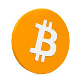 Symbole de Bitcoin d'isolement Image stock