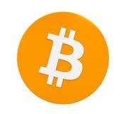 Symbole de Bitcoin d'isolement Image libre de droits