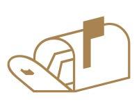 Symbole de boîte aux lettres Photos libres de droits