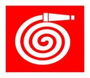 Symbole de bobine de tuyau d'incendie, signe international illustration stock