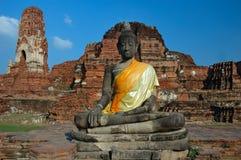 Symbole de Bouddha dans Wat Maha qui, Thaïlande photographie stock libre de droits