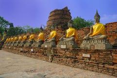 Symbole de Bouddha, Watyaichaimongkol, Thaïlande photos stock
