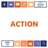 Symbole de bouton d'action illustration stock