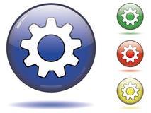 Symbole de bouton de roue dentée Photo libre de droits