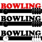Symbole de bowling d'isolement sur le fond blanc Image stock