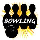 Symbole de bowling d'isolement sur le fond blanc Photographie stock