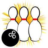 Symbole de bowling d'isolement sur le fond blanc Images stock