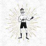 Symbole de boxeur de vintage illustration libre de droits