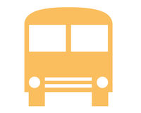 Symbole de bus Photos libres de droits