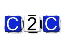 Symbole de C2C Photos libres de droits