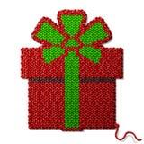 Symbole de cadeau du tissu tricoté d'isolement sur le fond blanc Image libre de droits