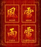 Symbole de caractère chinois au sujet de temps Images libres de droits