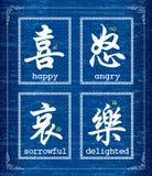 Symbole de caractère chinois au sujet des émotions Image libre de droits