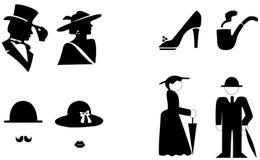 Symbole de carte de travail, toilettes, toilette Image stock