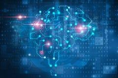 Symbole de cerveau d'intelligence artificielle illustration libre de droits
