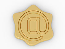 Symbole de chien de sceau Photo stock