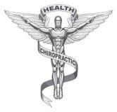 Symbole de chiropraxie Photographie stock