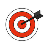 Symbole de cible de cible Photos stock