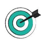 Symbole de cible de cible Images stock