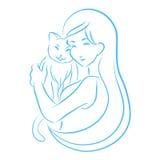 Symbole de clinique vétérinaire Image stock