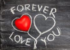 Symbole de coeur d'amour de craie dessus Image stock