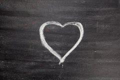 Symbole de coeur d'amour de craie dessus Photos libres de droits