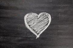 Symbole de coeur d'amour de craie dessus Images libres de droits