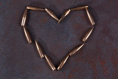 Symbole de coeur de bulletsd Images stock