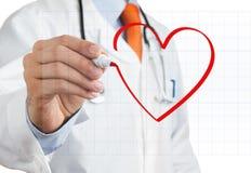 Symbole de coeur de retrait de docteur Images libres de droits