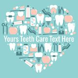 Symbole de coeur de soins dentaires Photo stock