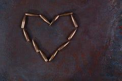 Symbole de coeur des balles Images libres de droits