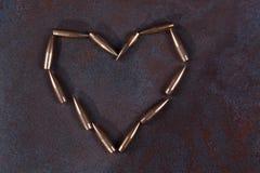Symbole de coeur des balles Photographie stock libre de droits