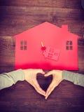 Symbole de coeur et de maison Image stock