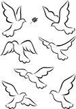 Symbole de colombe Photo libre de droits