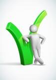 symbole de contrôle de penchement d'homme du vecteur 3d. Image libre de droits