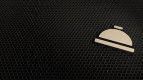 symbole de contreplaqué de coupe de laser de cloche de concierge images libres de droits