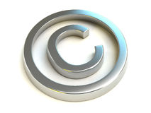 Symbole de copyright Photographie stock