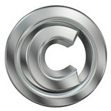 Symbole de copyright Images stock