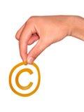 Symbole de copyright Images stock