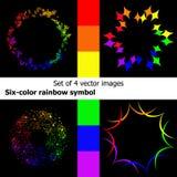 symbole de couleur six d'arc-en-ciel Photographie stock
